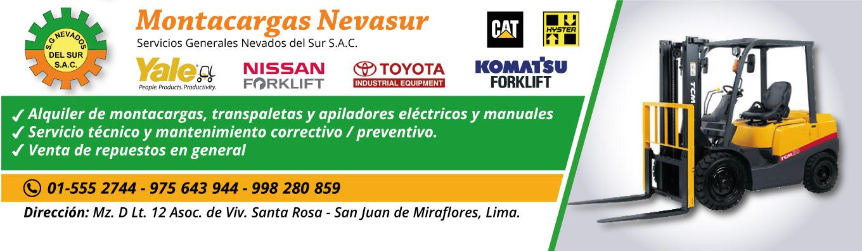 Alquiler de montacargas, transpaletas y apiladores eléctricos y manuales en Lima, Perú.